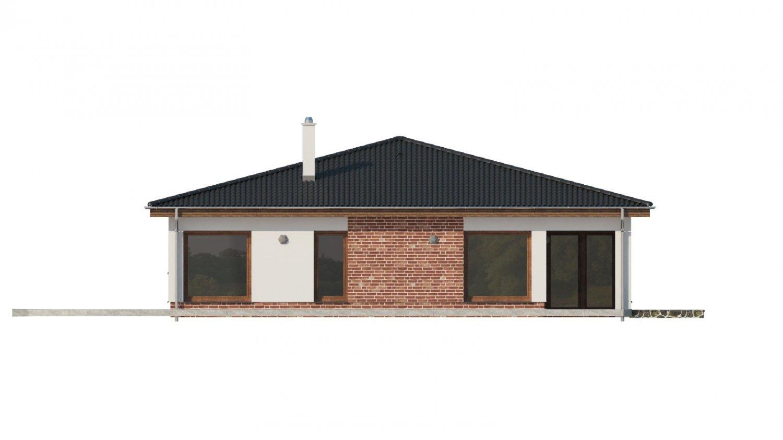 Pohľad 2. - Krásny dom s veľkou terasou.