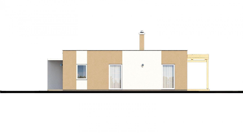 Pohľad 2. - Dom do L s plochou strechou