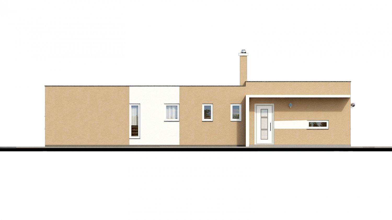 Pohľad 1. - Dom do L s plochou strechou
