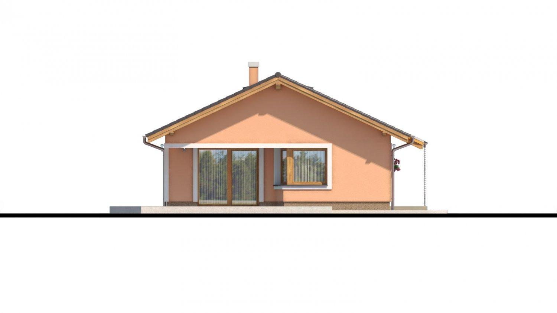 Pohľad 4. - Projekt domu s atypickým členením interiéru.