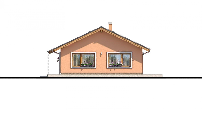 Pohľad 2. - Projekt domu s atypickým členením interiéru.