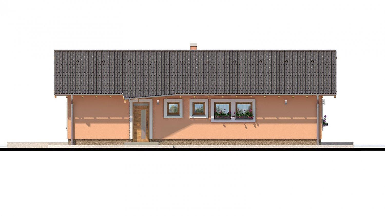 Pohľad 1. - Projekt domu s atypickým členením interiéru.