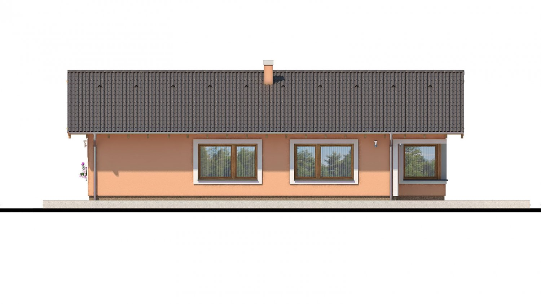 Pohľad 3. - Projekt domu s atypickým členením interiéru.