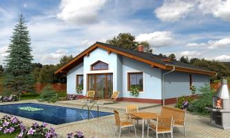 Zaujímavý prízemný rodinný dom s veľkopriestorovou obývacou časťou