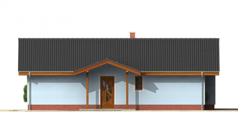 Pohľad 1. - Zaujímavý prízemný rodinný dom s veľkopriestorovou obývacou časťou.