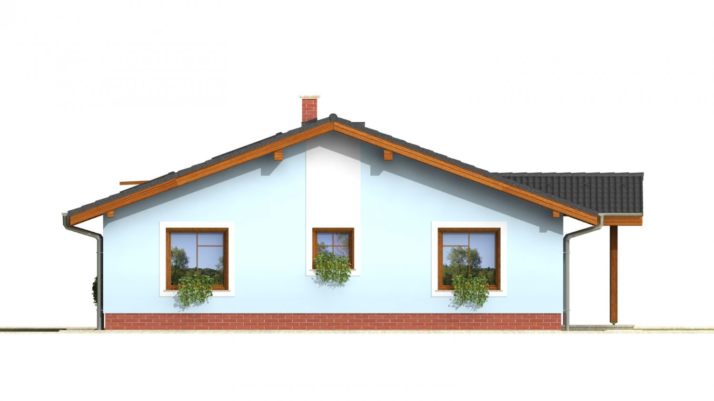 Pohľad 2. - Zaujímavý prízemný rodinný dom s veľkopriestorovou obývacou časťou.