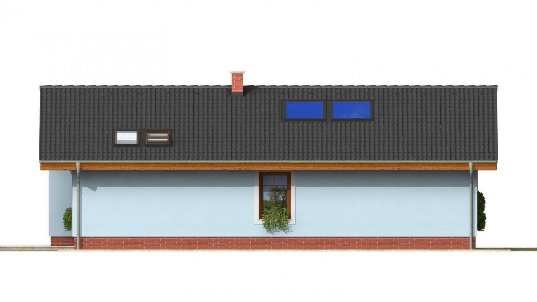 Pohľad 3. - Zaujímavý prízemný rodinný dom s veľkopriestorovou obývacou časťou.