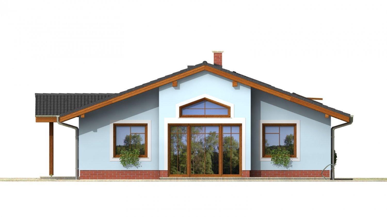 Pohľad 4. - Zaujímavý prízemný rodinný dom s veľkopriestorovou obývacou časťou.