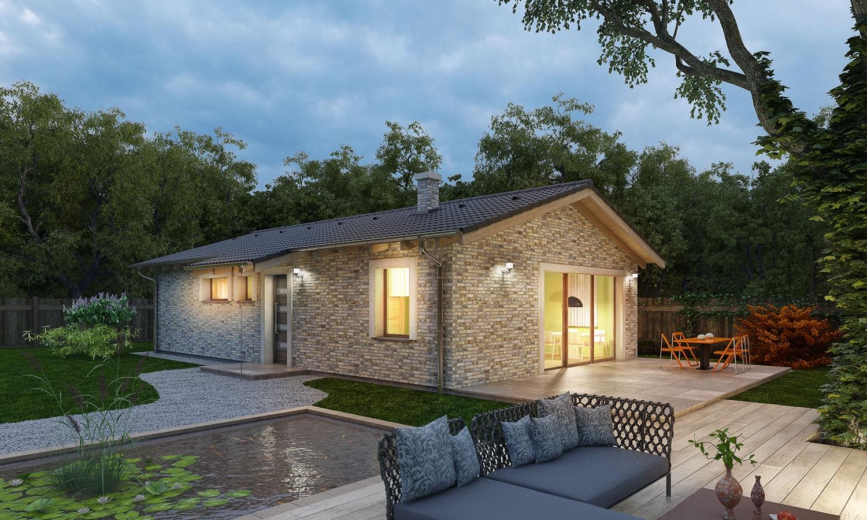 projekt domu BUNGALOW 153