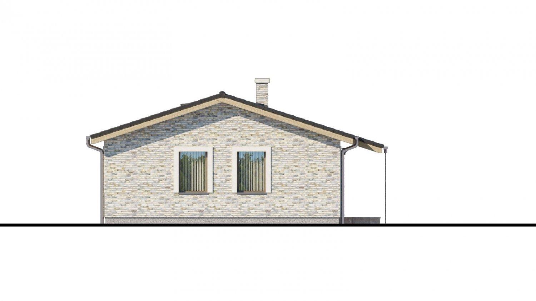 Pohľad 4. - Projekt rodinného domu na úzky pozemok.