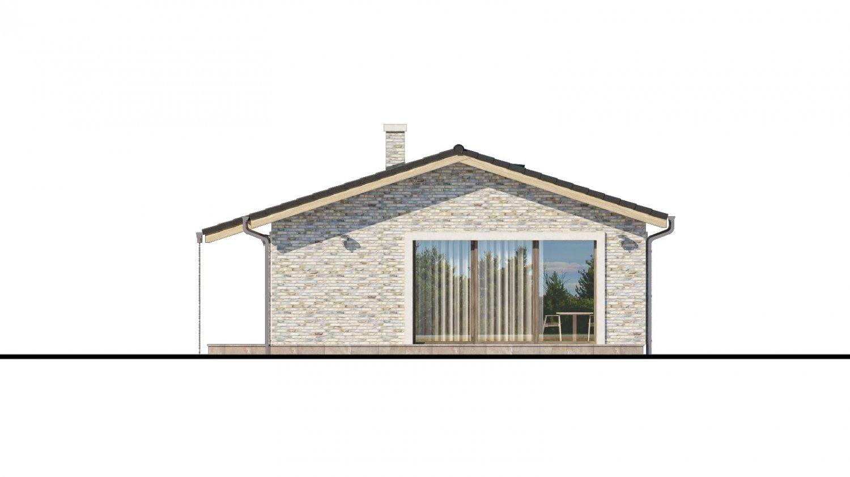Pohľad 2. - Projekt rodinného domu na úzky pozemok.