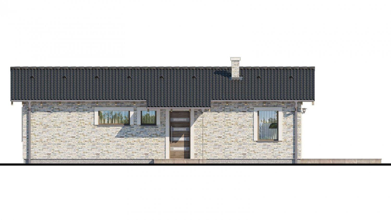 Pohľad 1. - Projekt rodinného domu na úzky pozemok.