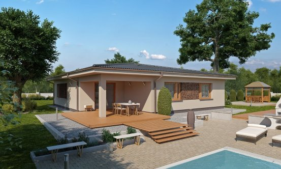 projekt domu BUNGALOW 155