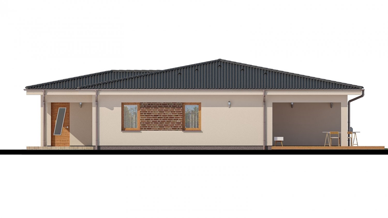 Pohľad 2. - Projekt rodinného domu s garážou