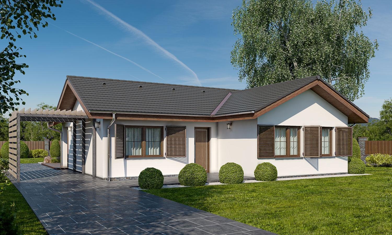 projekt domu BUNGALOW 160