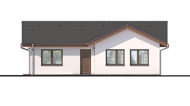 Pohľad 1. - Projekt domu do L