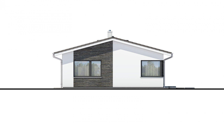 Pohľad 4. - Moderný bungalov na úzky pozemok.