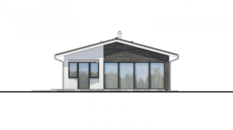 Pohľad 2. - Moderný bungalov na úzky pozemok.