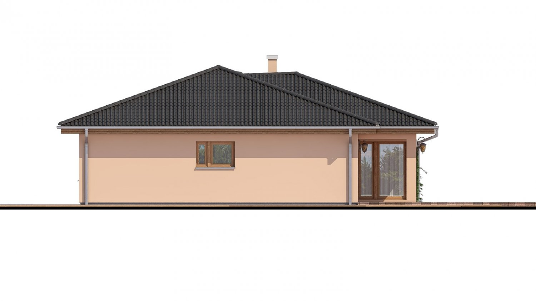 Pohľad 2. - Projekt domu s terasou, je spracovaný v 3d virtuálnej realite, je postavený aj ako montovaný drevodom