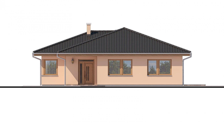 Pohľad 1. - Projekt domu s terasou, je spracovaný v 3d virtuálnej realite, je postavený aj ako montovaný drevodom