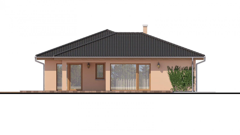 Pohľad 3. - Projekt domu s terasou, je spracovaný v 3d virtuálnej realite, je postavený aj ako montovaný drevodom