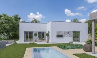 Moderný dom s plochou strechou
