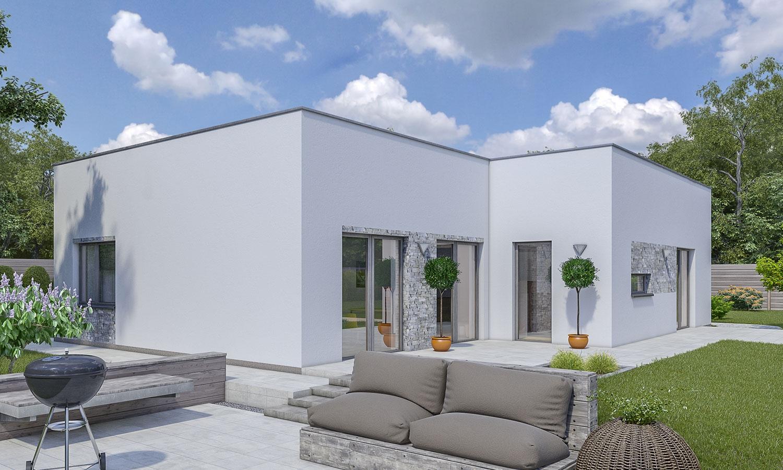 projekt domu BUNGALOW 166-PS