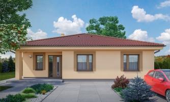 Jednoduchý 5-izbový rodinný dom s valbovou strechou. Spracovaný aj vo virtuálnej realite 3d.