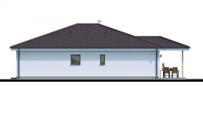 Pohľad 2. - Jednoduchý 5-izbový rodinný dom s valbovou strechou. Spracovaný aj vo virtuálnej realite 3d.
