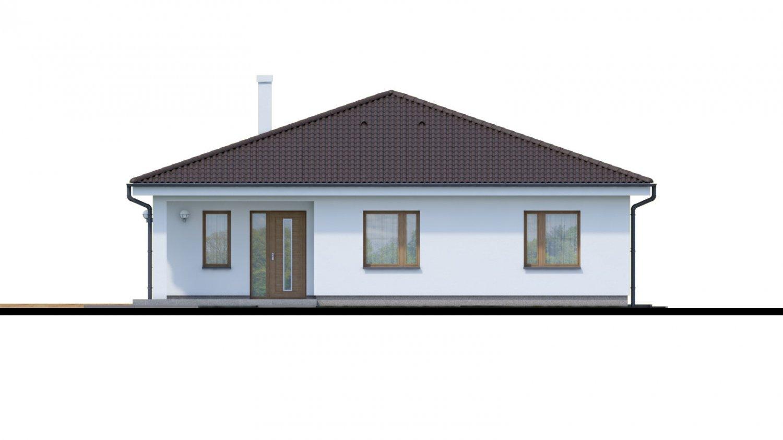 Pohľad 1. - Jednoduchý 5-izbový rodinný dom s valbovou strechou. Spracovaný aj vo virtuálnej realite 3d.