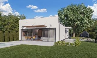 projekt domu BUNGALOW 168-PS