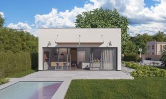 Moderný dom na úzky pozemok
