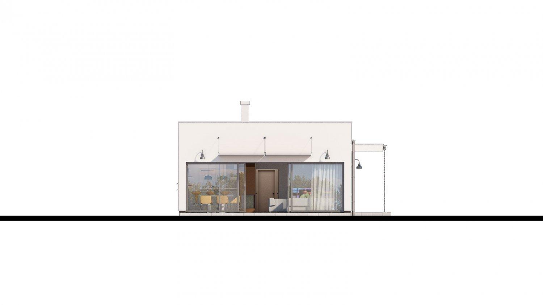 Pohľad 4. - Bungalow 168 s plochou strechou.