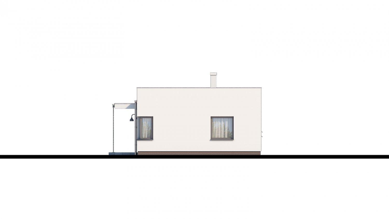 Pohľad 2. - Bungalow 168 s plochou strechou.