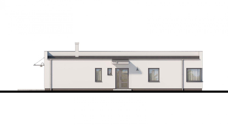 Pohľad 1. - Bungalow 168 s plochou strechou.