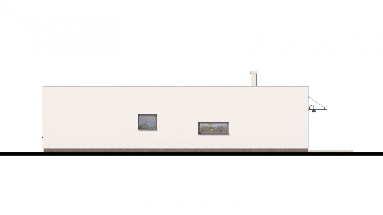 Pohľad 3. - Bungalow 168 s plochou strechou.