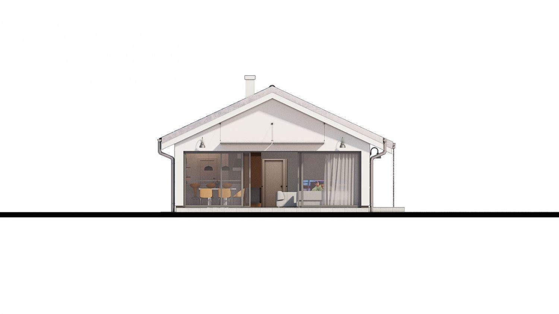 Pohľad 4. - Projekt domu na úzky pozemok.