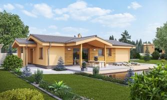 Projekt domu na úzky pozemok.