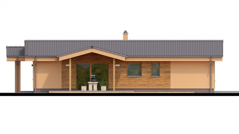 Pohľad 2. - Projekt domu na úzky pozemok.