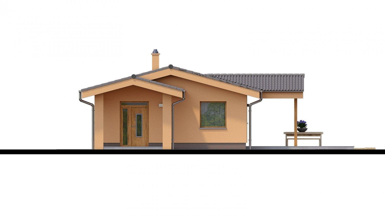 Pohľad 1. - Projekt domu na úzky pozemok.