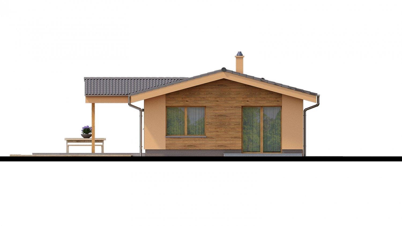 Pohľad 3. - Projekt domu na úzky pozemok.