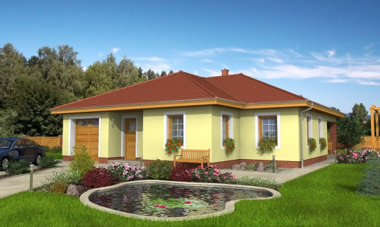 projekt domu BUNGALOW 17