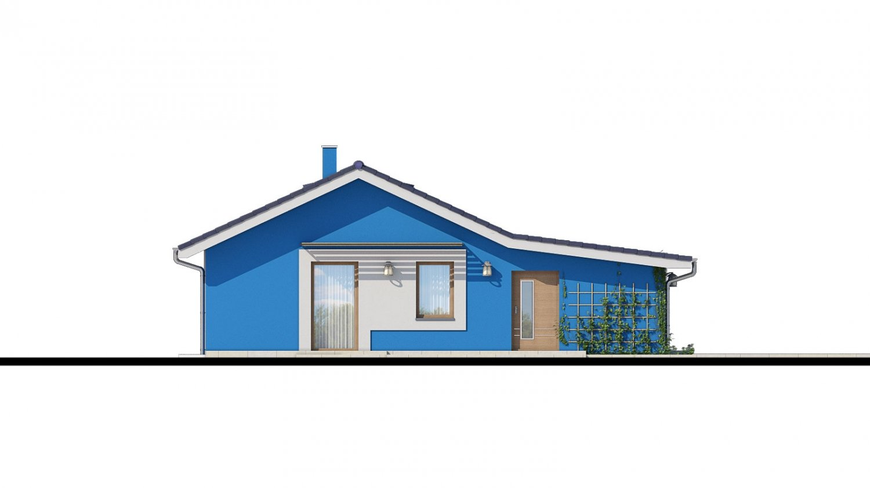 Pohľad 4. - 4-izbový projekt domu s garážou.