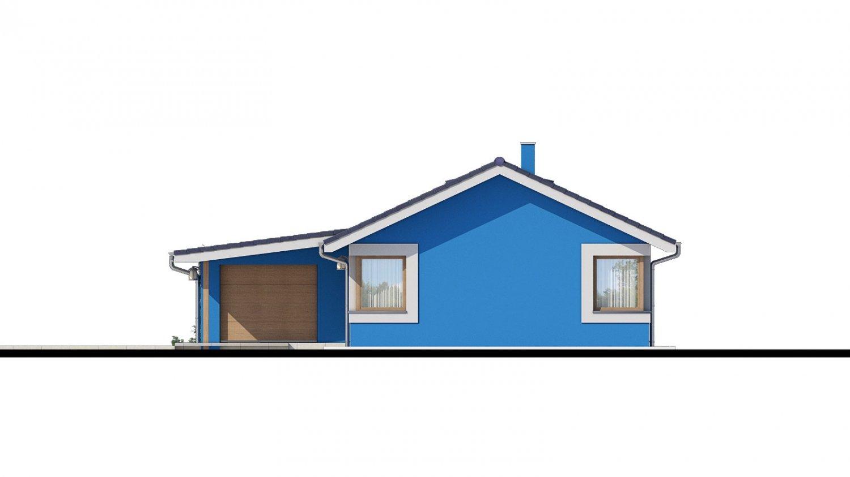 Pohľad 2. - 4-izbový projekt domu s garážou.
