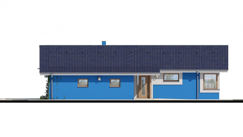 Pohľad 1. - 4-izbový projekt domu s garážou.