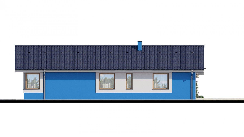 Pohľad 3. - 4-izbový projekt domu s garážou.