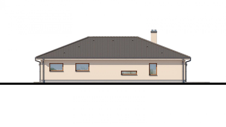 Pohľad 2. - Rodinný dom do tvaru L s terasou.