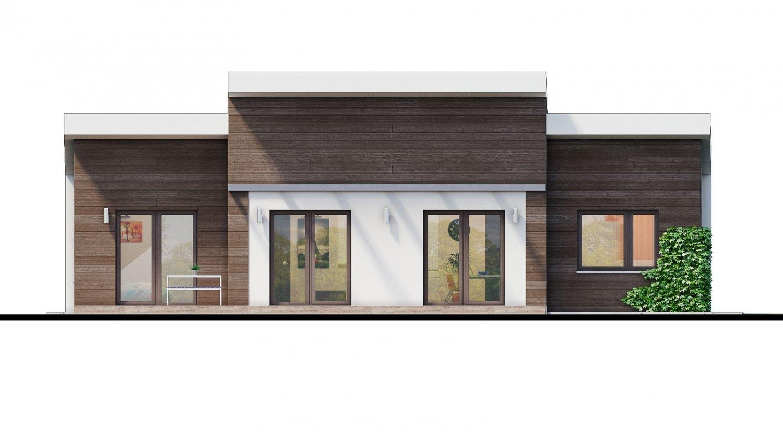 Pohľad 4. - Moderný 4-izbový projekt domu.