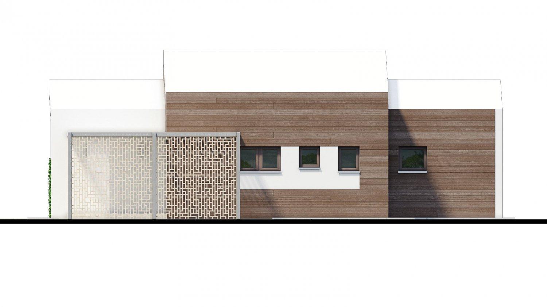 Pohľad 2. - Moderný 4-izbový projekt domu.