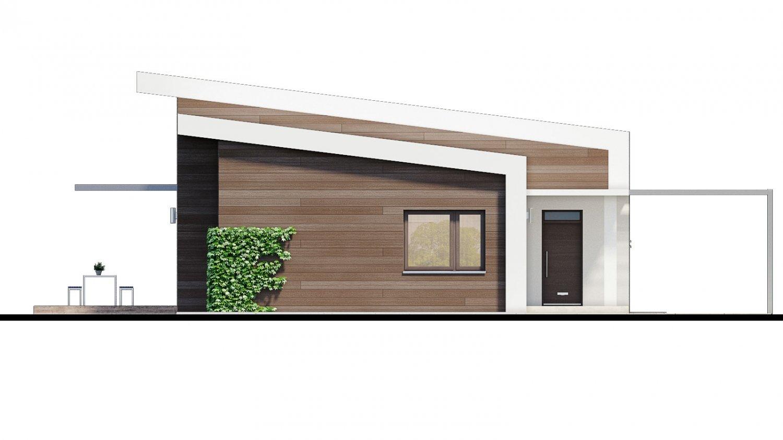 Pohľad 1. - Moderný 4-izbový projekt domu.